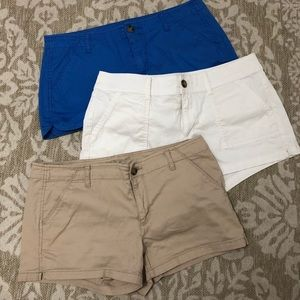 3 pairs of shorts
